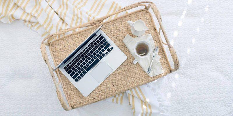 web design on a tray
