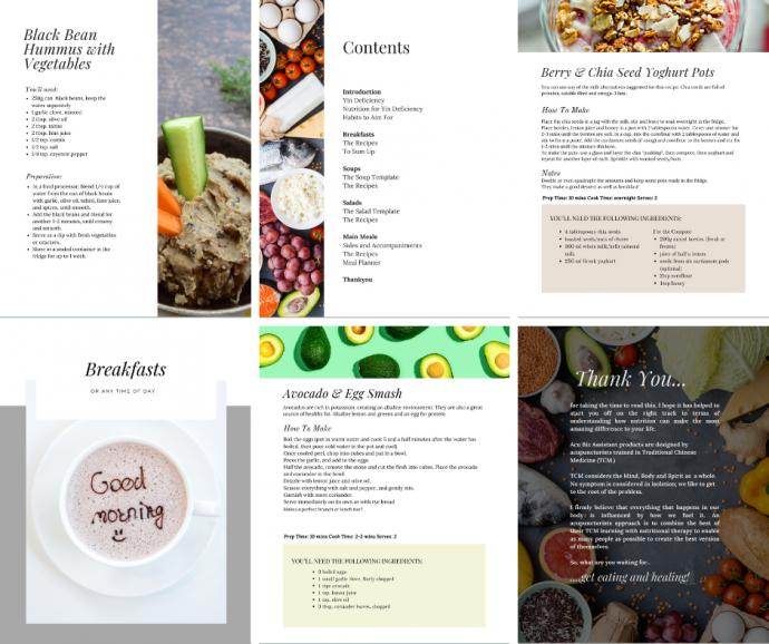 TCM nutrition ebook images