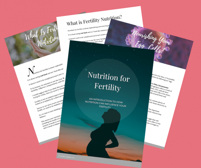 nutrition for fertility ebook image 3