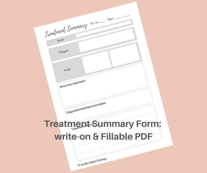 treatment summary form